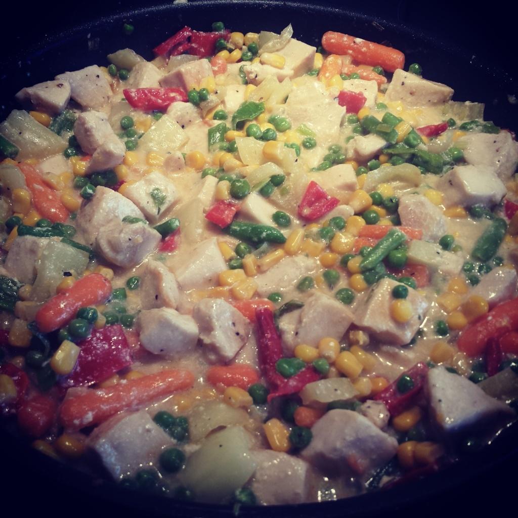 5 Wochen Fit Challenge - Gemüse Hähnchen Pfanne