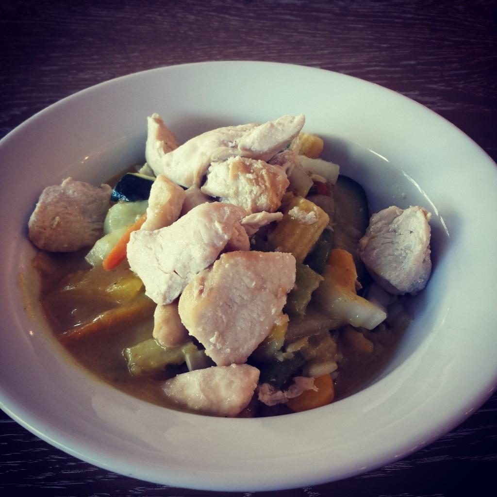 5 Wochen Fit Challenge - Kokosnuss Curry mit Reis