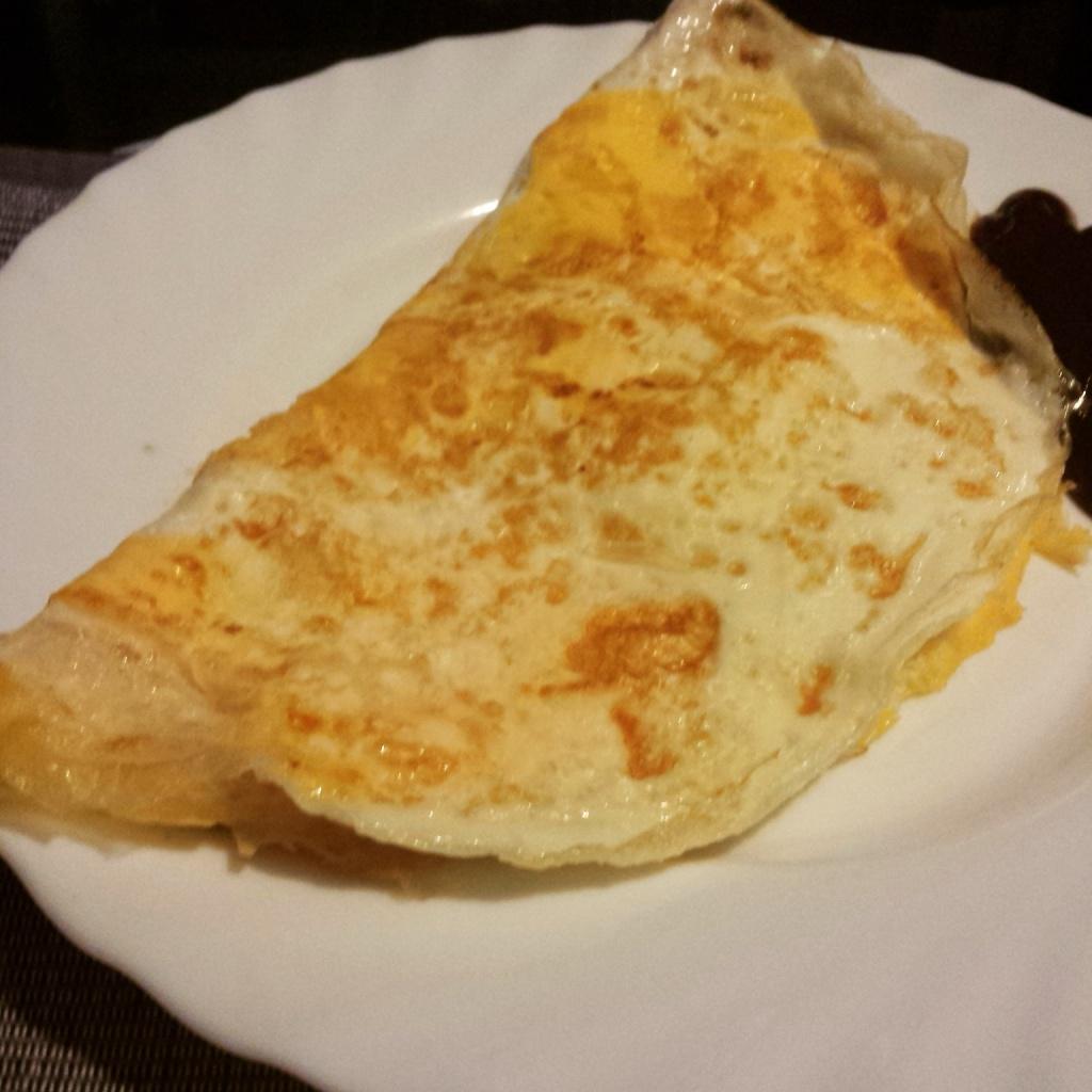 5 Wochen Fit Challenge - Omelette gefüllt mit Kochschinken und Köse
