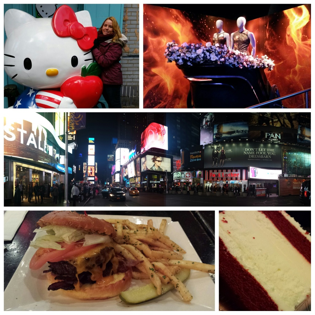 Review Oktober/ November - Welcome to New York! Hunger Games Exhibition - Times Square - Burger - Cheesecake