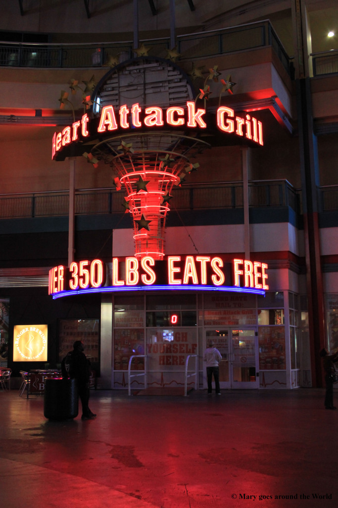 USA Rundreise - Las Vegas und Yosemite Nationalpark - Heart Attack grill