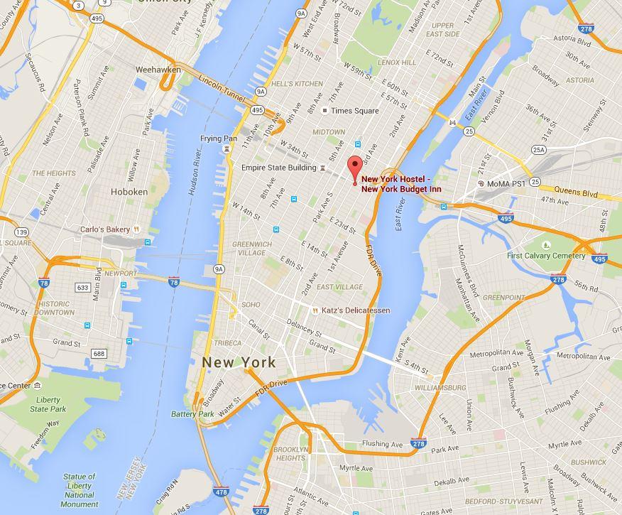USA Rundreise - New York Budget Inn