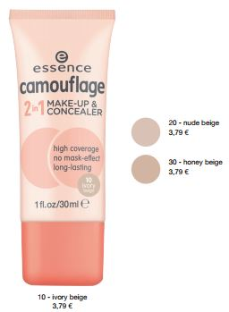 essence Neuheiten Herbst/ Winter 2016 - camouflage 2in1 make-up & concealer