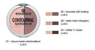 essence Neuheiten Herbst/ Winter 2016 - contouring eyeshadow set