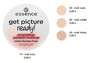essence Neuheiten Herbst/ Winter 2016 - get picture ready! long-lasting compact make-up