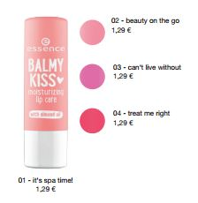 essence Neuheiten Herbst/ Winter 2016 - balmy kiss moisturizing lip care