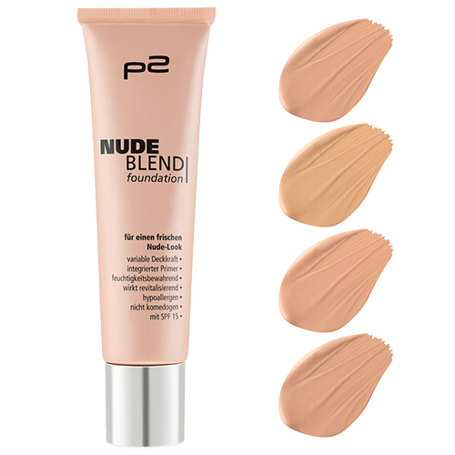 p2 Neuheiten Herbst/Winter 2016 - nude blend foundation