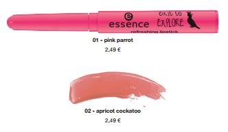 "essence trend edition ""exit to explore"" – refreshing lipstick"