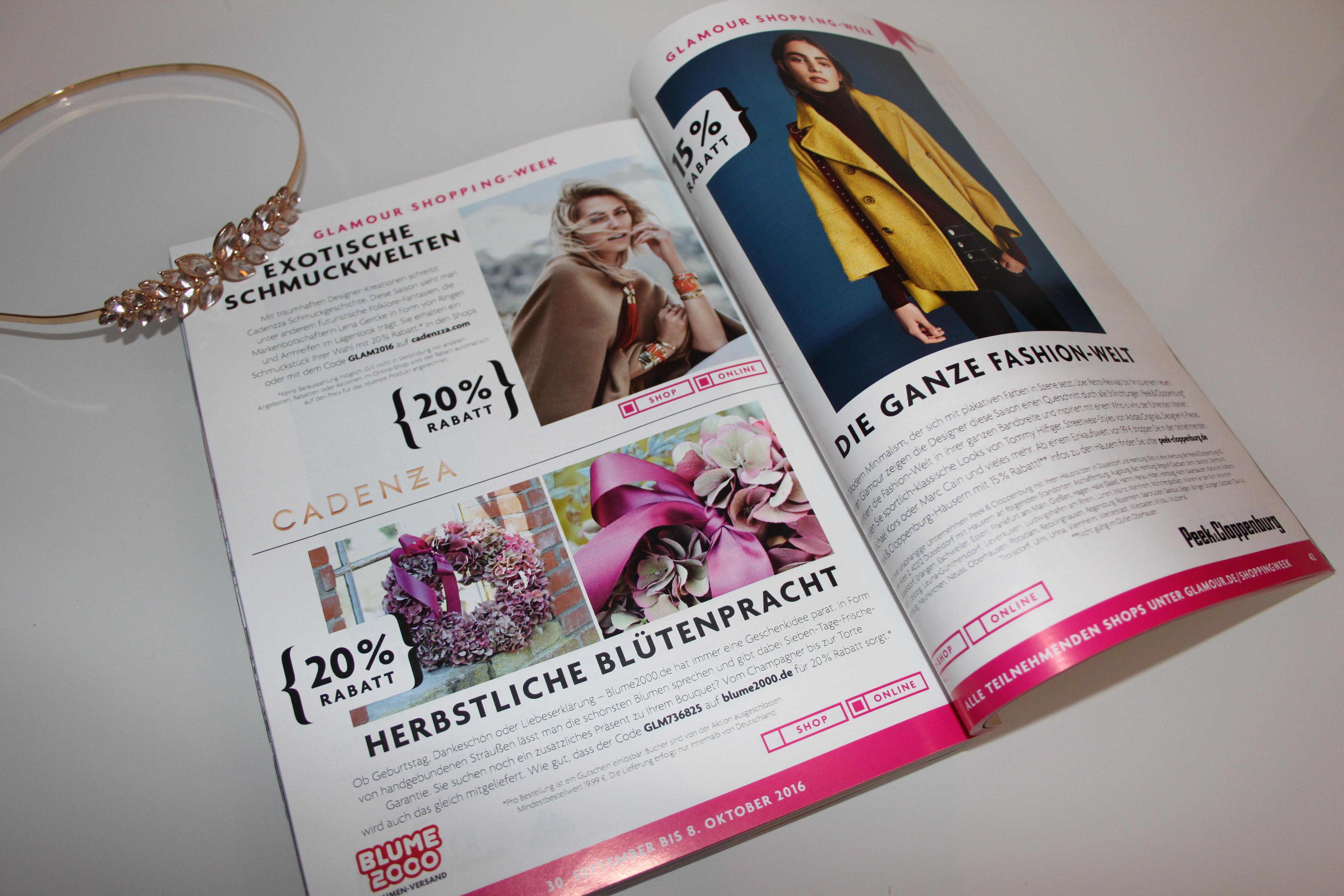 Glamour Shopping Week Herbst 2016 - Inhalt