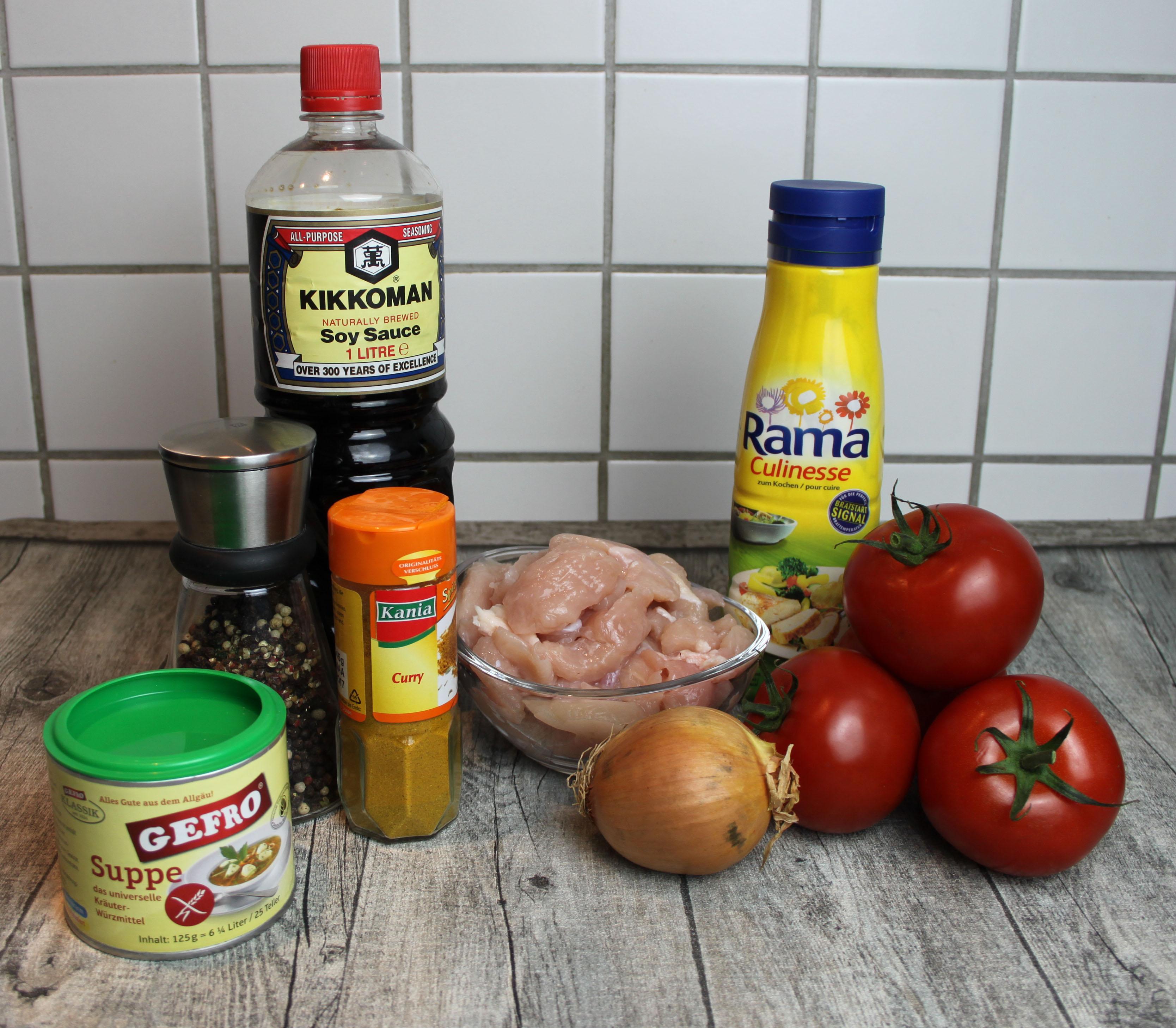 Leichte Tomatensuppe - Zutaten
