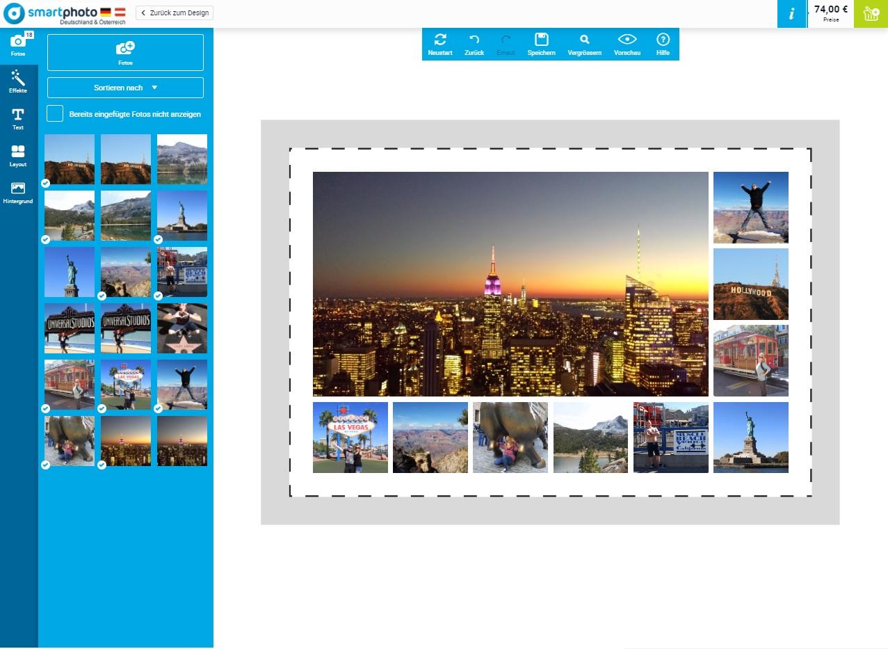 Foto-Leinwand Deluxe von smartphoto - Gestaltung fertig