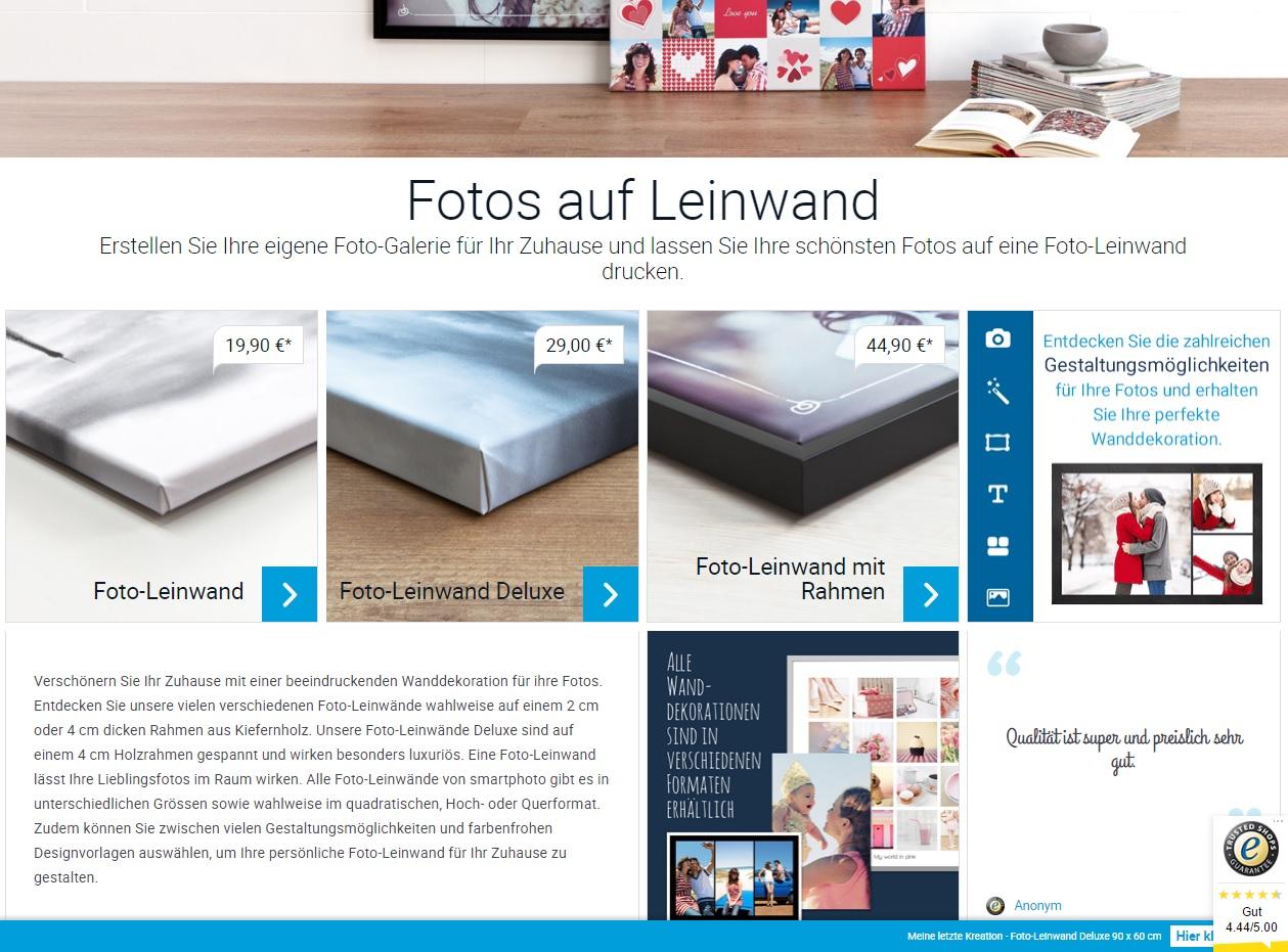 Foto-Leinwand Deluxe von smartphoto - Auswahl Art