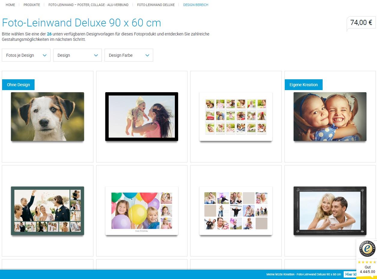 Foto-Leinwand Deluxe von smartphoto - Design