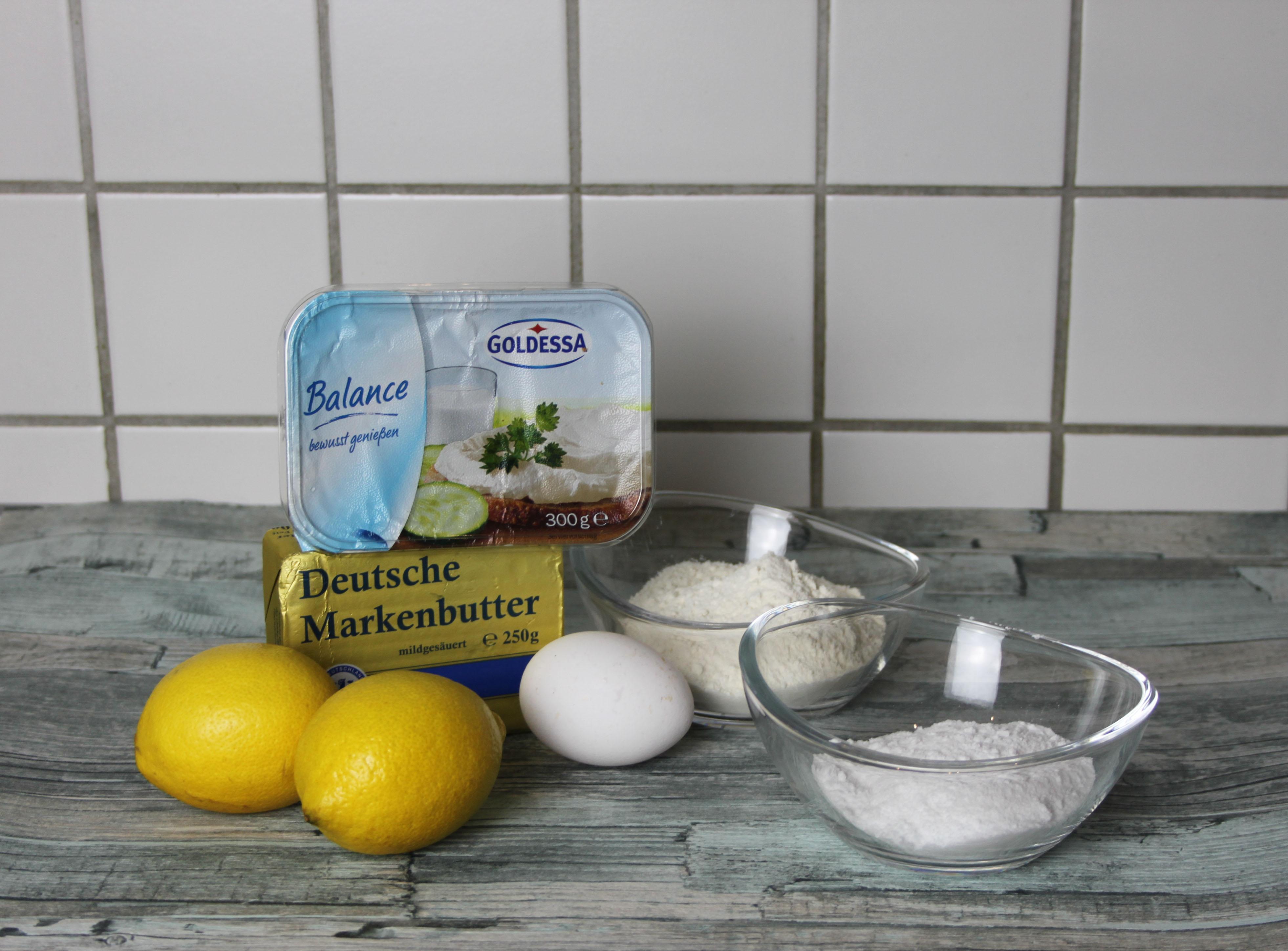 Zitronen Mini Gugl - Zutaten