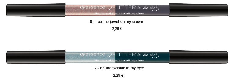 """essence trend edition """"glitter in the air""""– 2in1 metallic and matt eyeliner"""