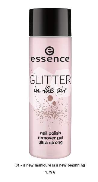 "essence trend edition ""glitter in the air"" – nail polish remover"