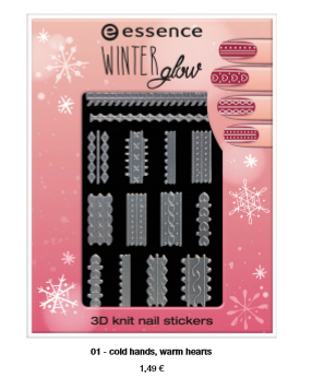 "essence trend edition ""winter glow"" – 3D knit nail stickers"