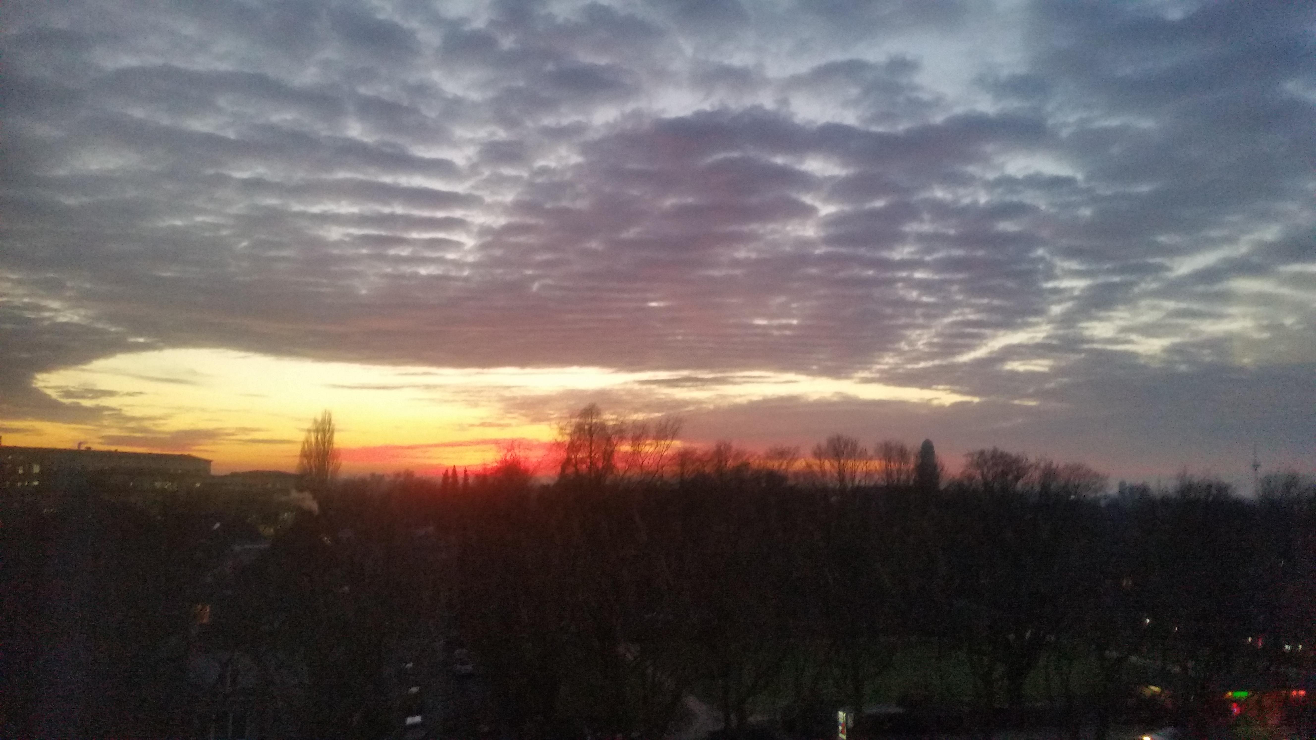 Wochenrückblick 03/ 2017 - Sonnenuntergang - Ausblick von meinem Arbeitsplatz