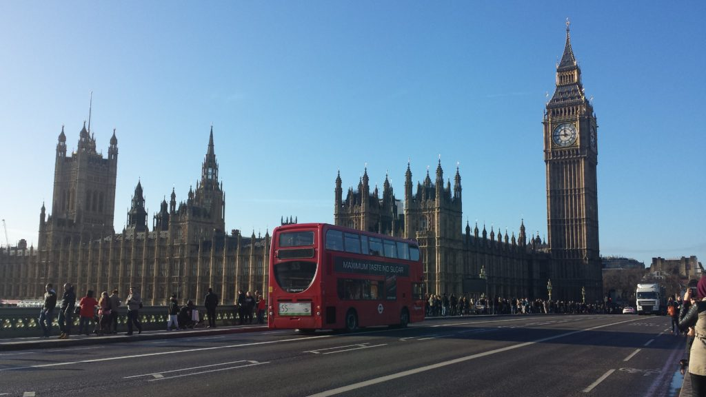 4 Tage in London - London Eye, Houses of Parliament, Big Ben, Roter Doppeldecker