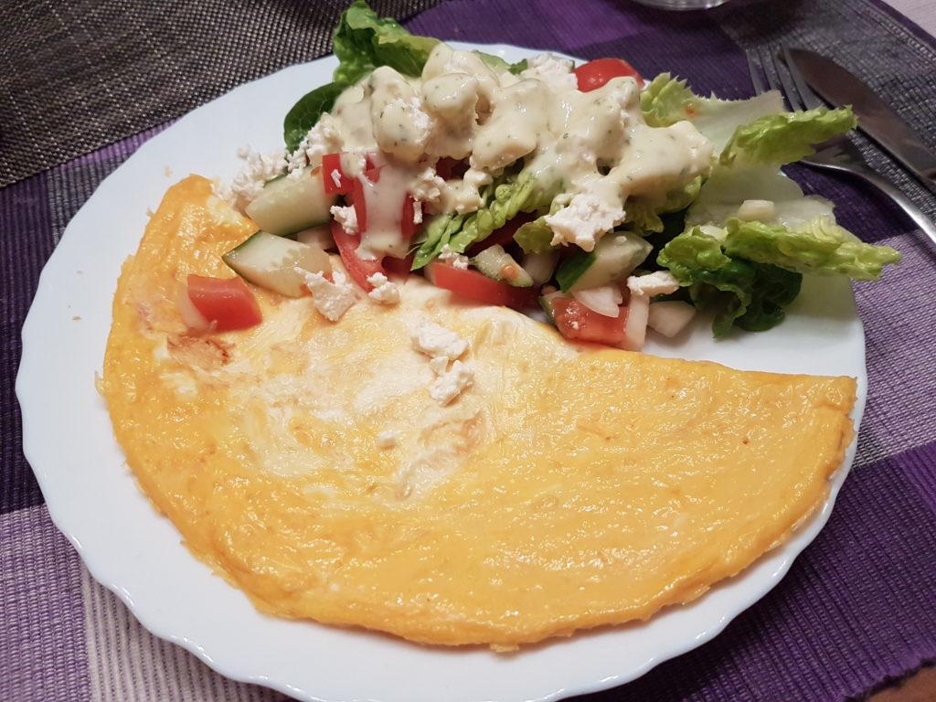 Wochenrückblick 10/ 2017 - Omlette mit Salat