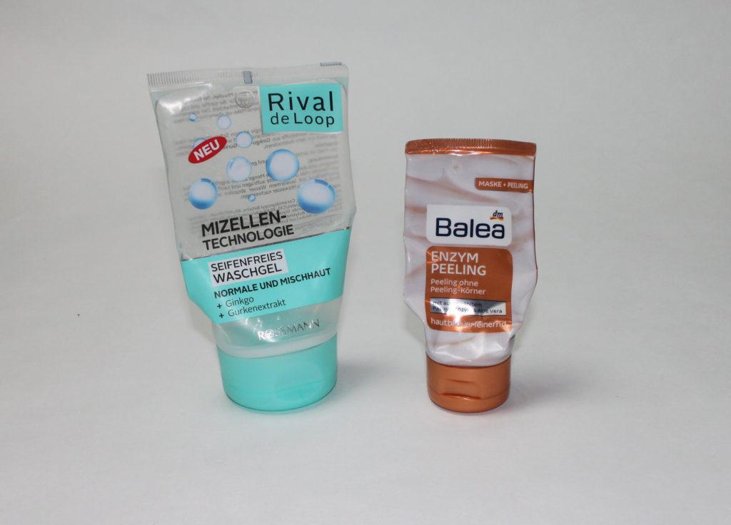 Aufgebraucht 2017 #1 – Gesichtsreinigung - Rival de Loop Seifenfreies Waschgel Mizellen-Technologie, Balea Enzym-Peeling