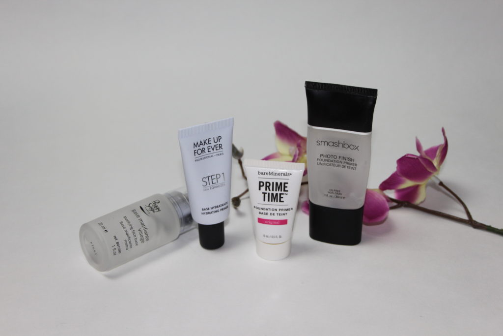 Foundation Primer im Vergleich - Smashbox, Peggy Sage, Make Up For Ever, bareMinerals