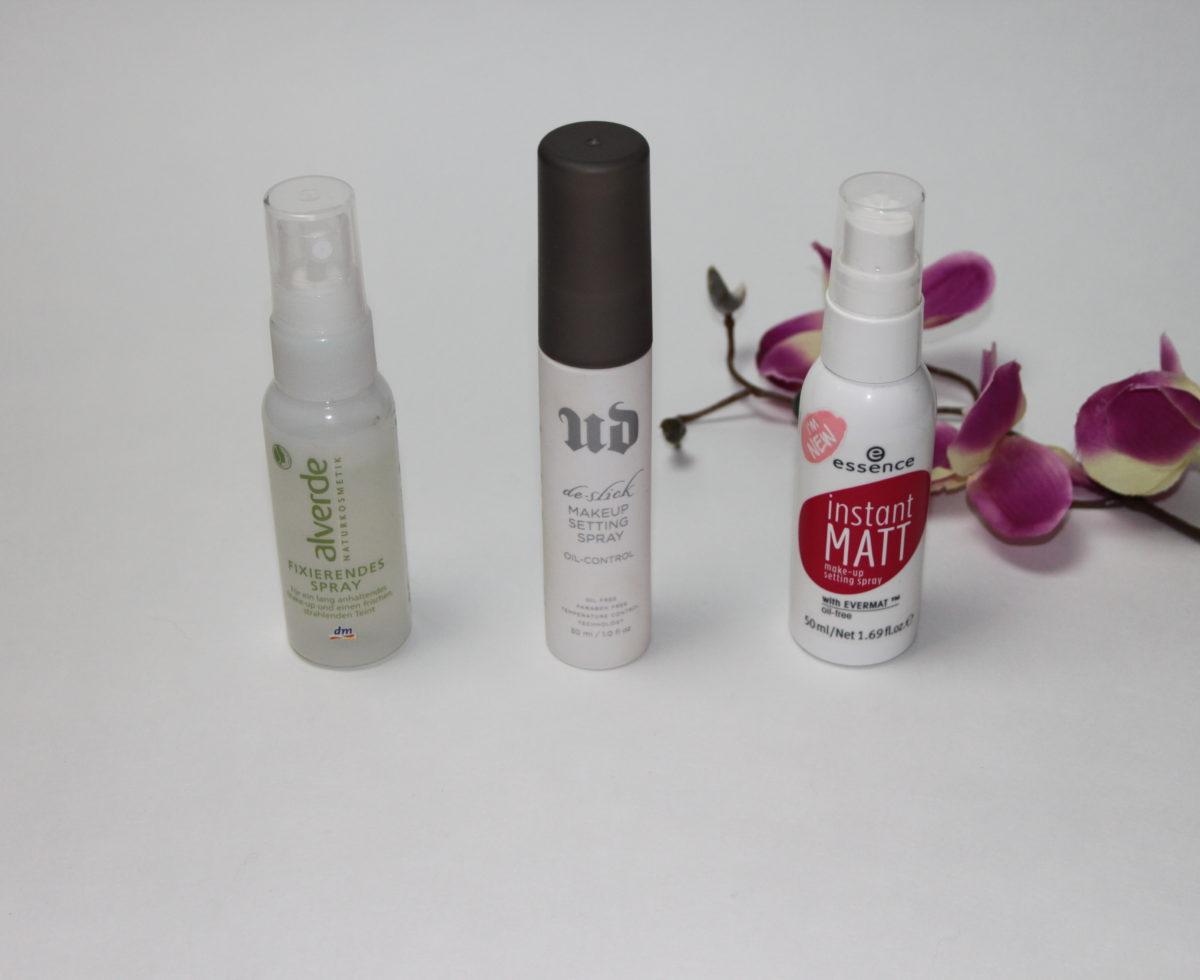 Wochenrückblick 13/ 2017- MakeUp Setting Sprays im Vergleich