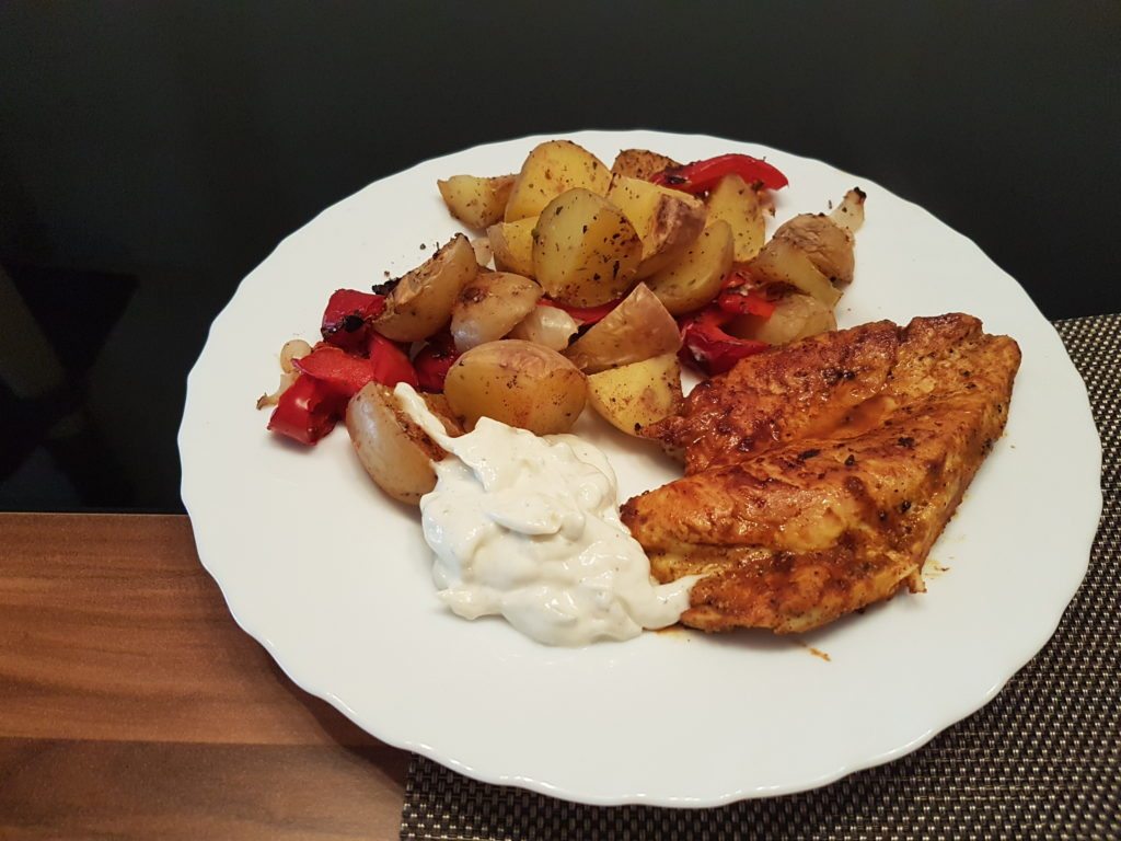 Wochenrückblick 16/ 2017 - Ofenkartoffeln mit Hähnchen