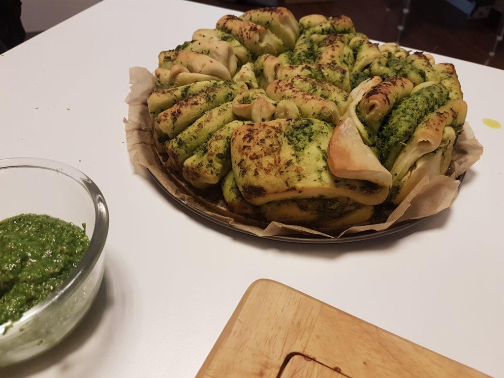Wochenrückblick 25/ 2017 - Thermomix Faltbrot mit Kräuterbutter und selbstgemachtem Pesto
