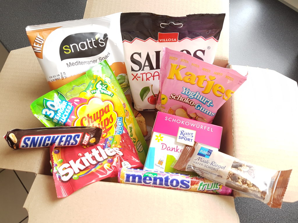 Amazon Süßigkeiten Box, Amazon Probierbox, Süßigkeiten