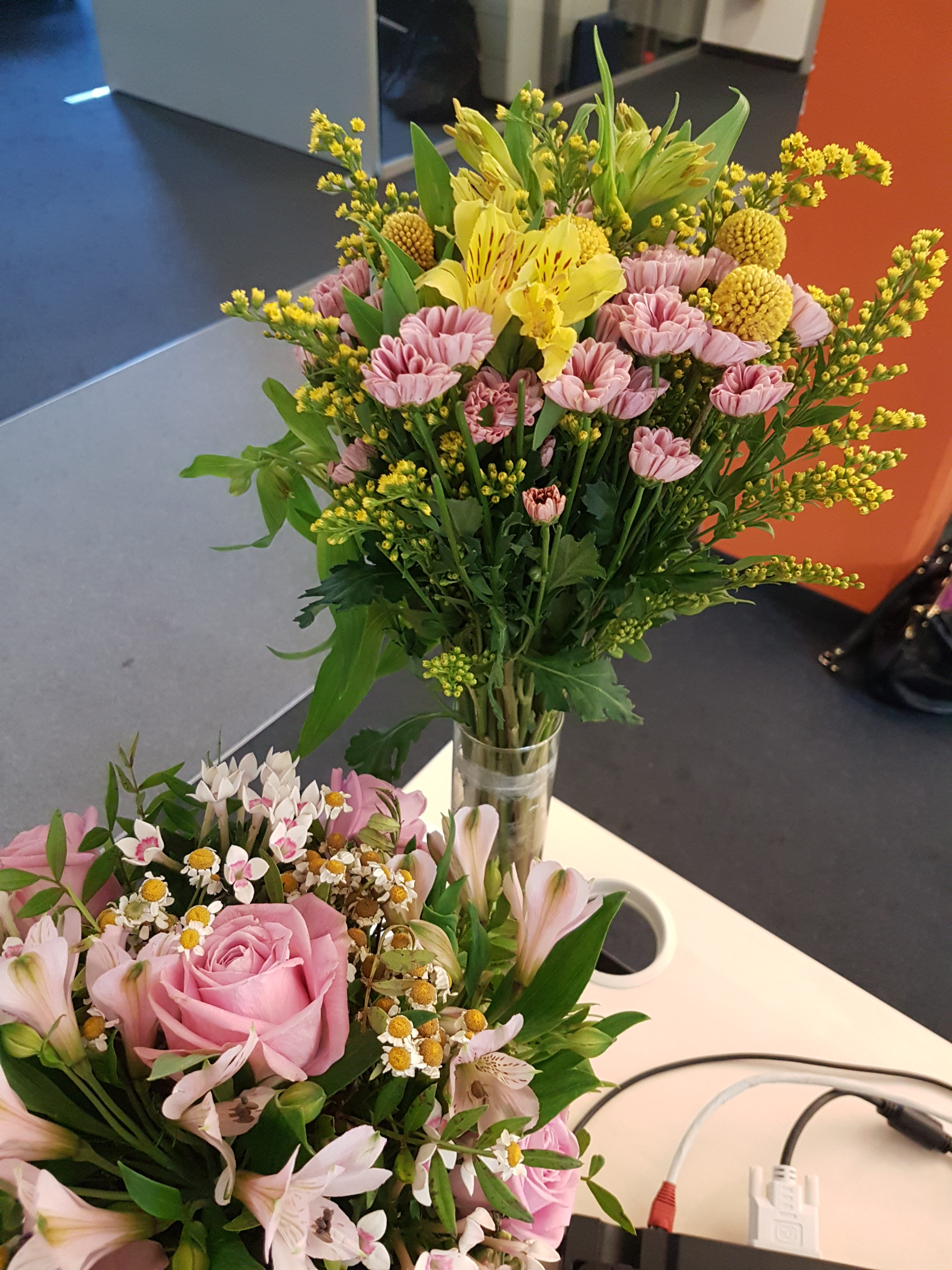 Wochenrückblick 29/ 2017 - Blumen von meinen neuen Kollegen